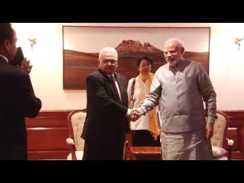 Foreign Minister of Nepal Mahendra Bahadur Pandey calls on PM Modi