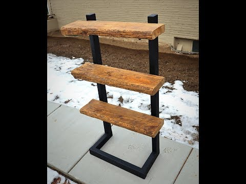 DIY Bookshelf! Barn Wood & Steel - Plane Good Builds