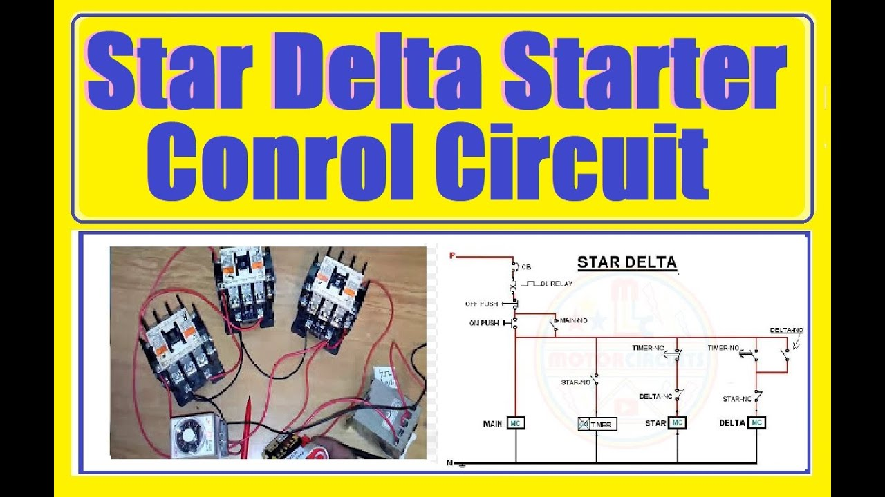 Star Delta Starter Motor Control with Circuit diagram Practical video in Urdu  YouTube