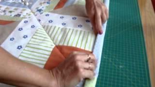 Patchworkdecke Quilt aus Stoffresten nähen. Teil 3 von 3.