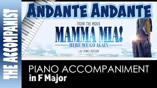 Andante Andante - from the movie Mamma Mia Here We Go Again - Piano Accompaniment - Karaoke