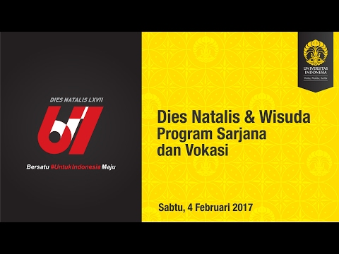 Wisuda UI Program Sarjana & Vokasi Semester Gasal 2017