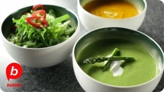 Three Soups: Carrot, Asparagus & Chicken Cilantro Soup   That's Fresh With Helen Cavallo   Babble