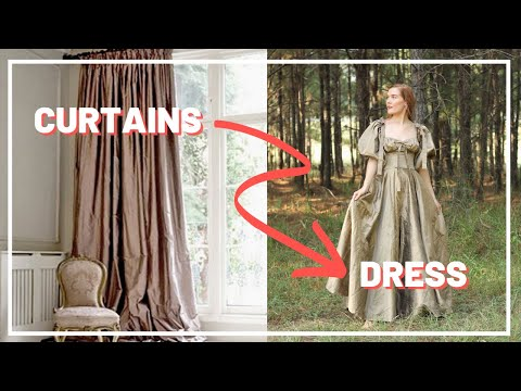 Making a Fairy tale Dress out of Curtains (Recycle & Redesign) Ep. 5 | Style Studio |