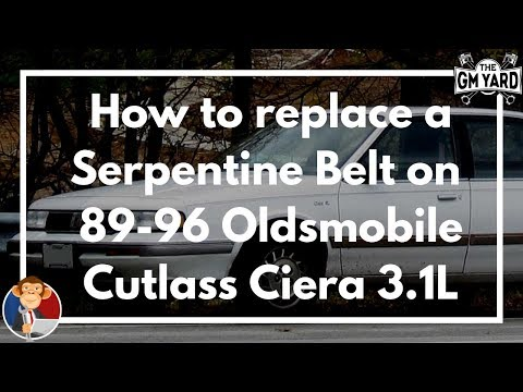 How to Replace a Serpentine Belt on a 89-96 Oldsmobile Cutlass Ciera SL with a 3.1L V6 Engine – EGM