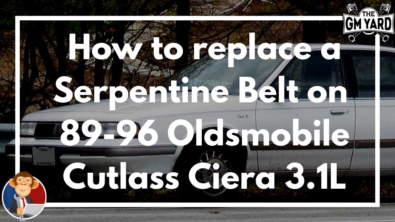 How To Replace An Alternator On A 91 96 Oldsmobile Cutlass Cierra Sl With A 3 1l V6 Egm Youtube