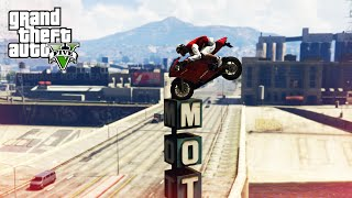 CRAZIEST BIKE STUNTS! - (GTA 5 Top 10 Stunts)