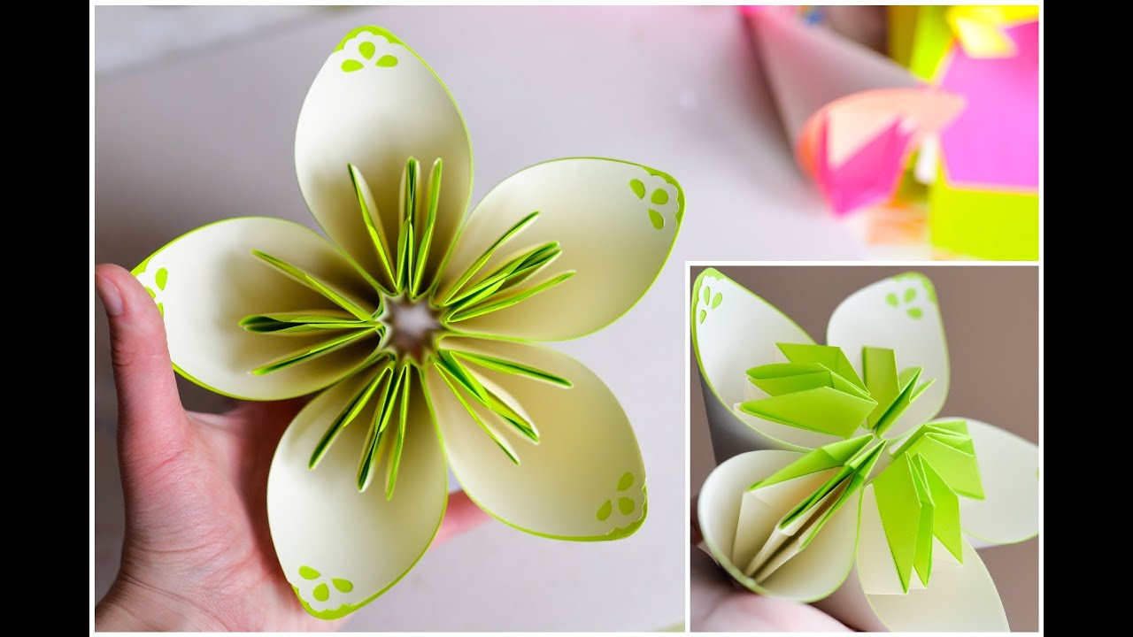 How to Make - Two-color Flower Origami - Step by Step ... - photo#47