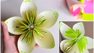 How to Make - Two-color Flower Origami - Step by Step | Dwukolorowy Kwiatek