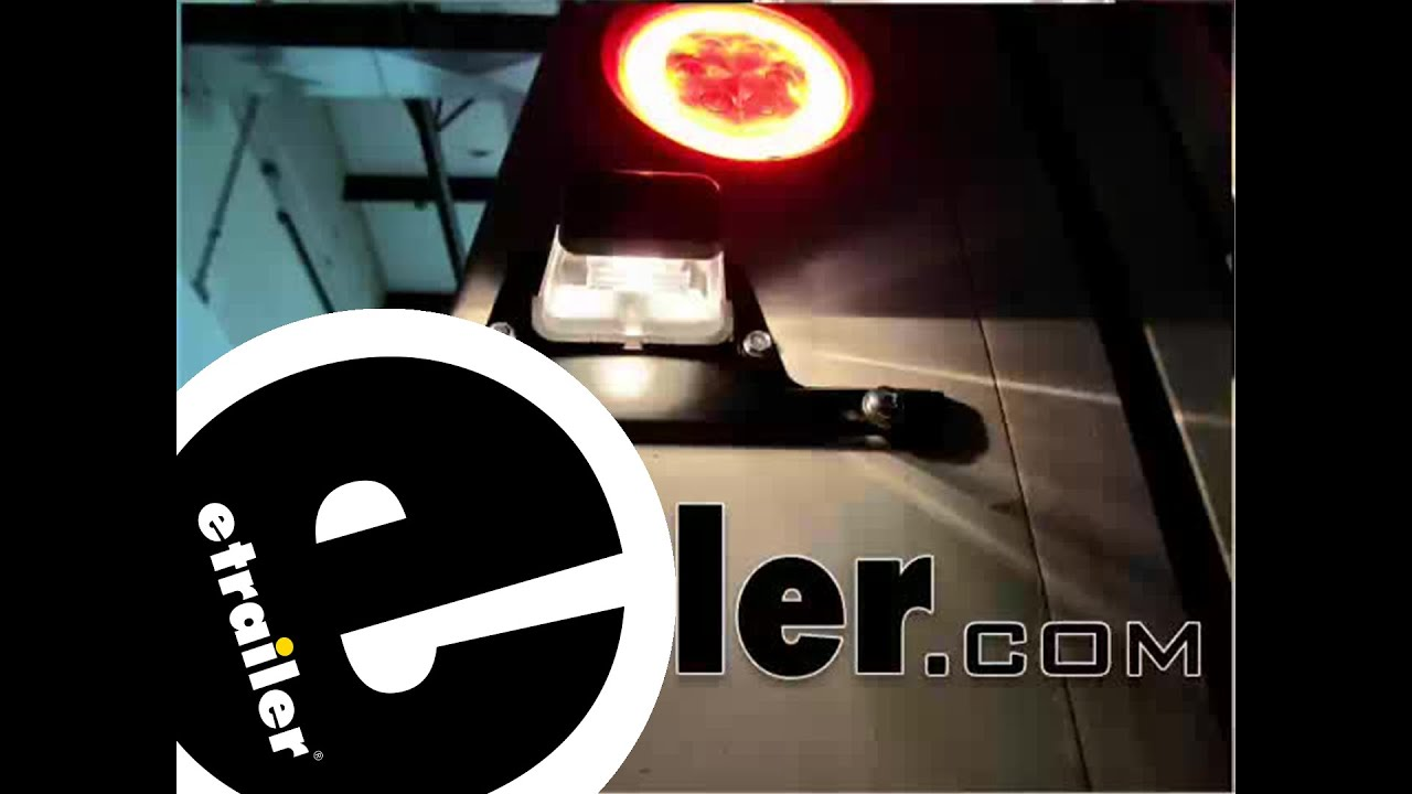 AUTO Aluminum Trailer License Plate Light Bracket