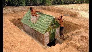 Build Most Awesome Underground Secret House Under  Water by Talented Bushmen #Part1