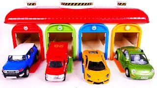 Learn Colors with Yippee Toys and Toy Vehicles and Garage Playset for Children