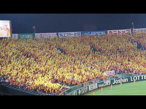 H30.07.25 ラッキー7 タイガース ジェット風船 広島×阪神 甲子園