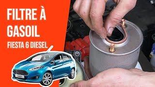 Changer le Filtre à Gasoil FIESTA 6  1.4 TDCI ⛽