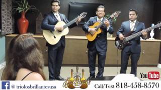 MEXICAN ROMANTIC TRIO LOS ANGELES SERENADES SURPRISE
