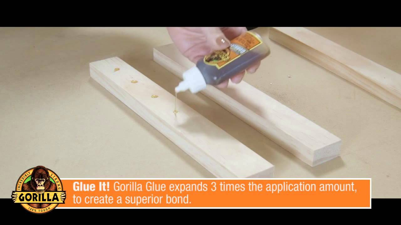 how to get gorilla glue off wood
