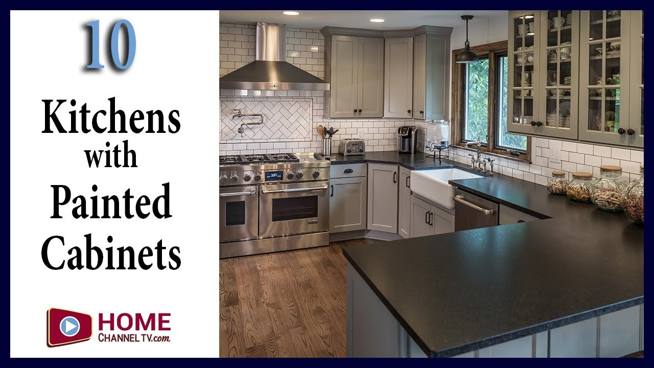 Kitchen Designs With Painted Cabinets Contrasting Islands Youtube
