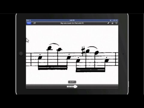 How to Create Big Note iPad Sheet Music Using a Windows PC Computer