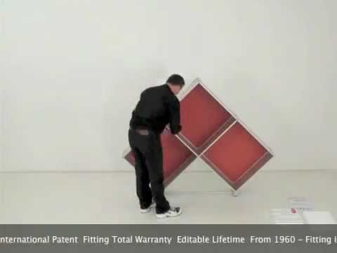Libreria fitting pyramid modular bookcase assembly youtube