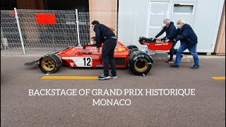 #60. Backstage of the 12th Historic Grand Prix #Monaco #Formula1 #vintagecars #oldcars #races