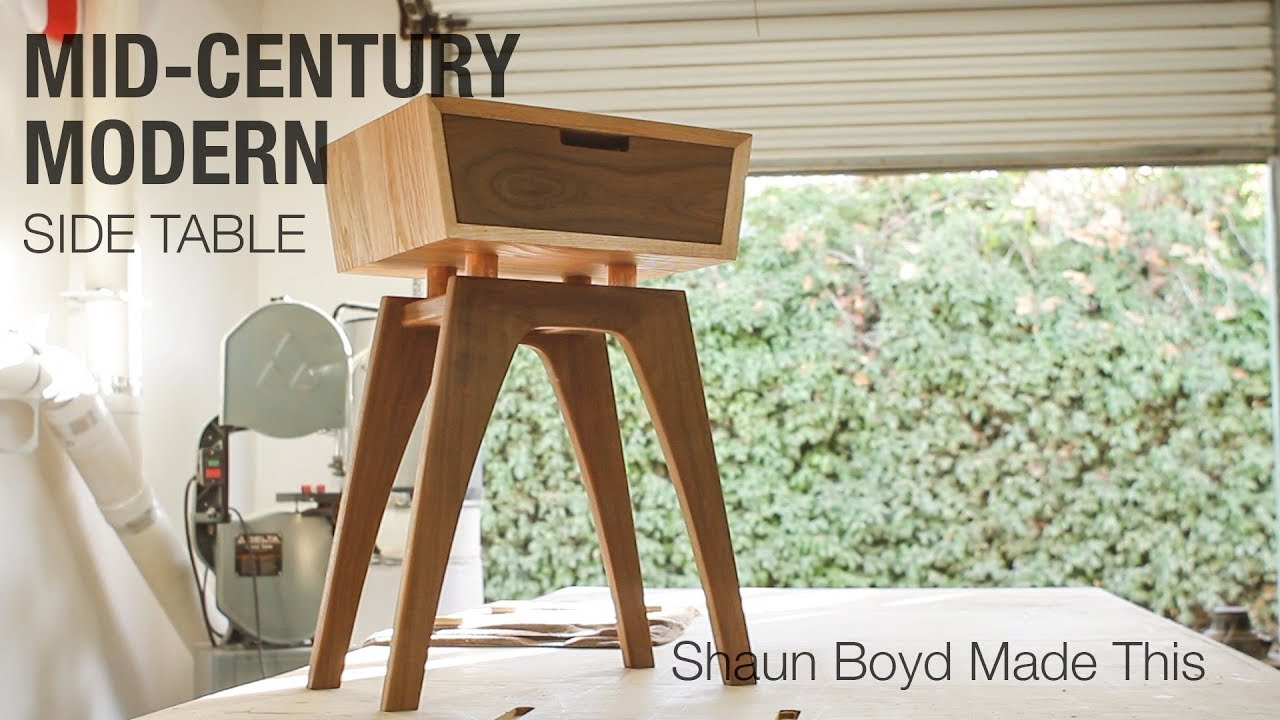 Mid Century Building A Midcentury Modern Side Table Shaun Boyd Made This