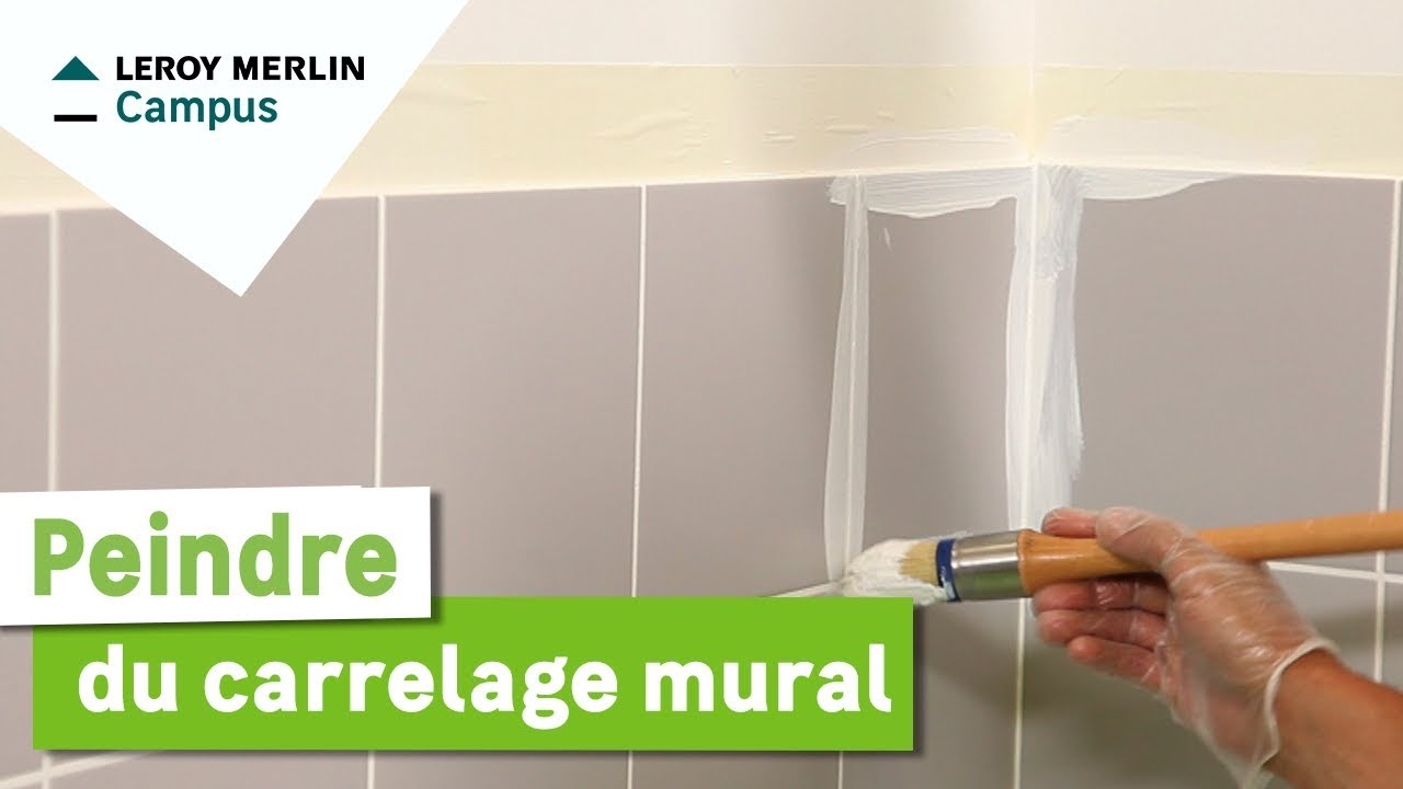 Comment peindre du carrelage mural youtube for Repeindre carrelage salle de bain