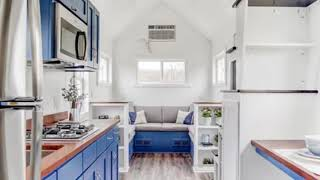 Modern Tiny Living a beautiful interior with blue cabinets