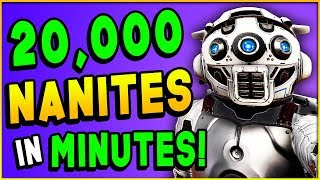 HOW TO MAKE 20,000 NANITES IN 10 MINUTES! - No Man