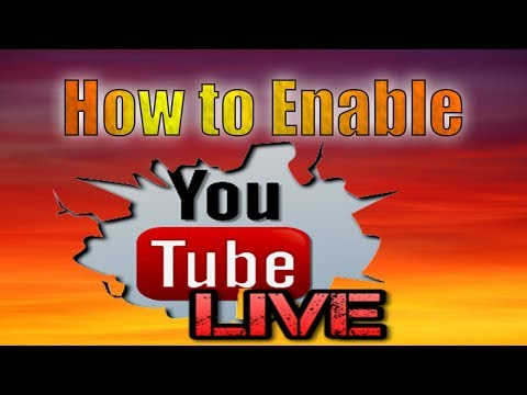 How to Enable live streaming on youtube channel