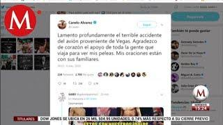 'Canelo' lamenta el accidente aéreo ocurrido en Coahuila