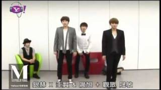 [ENG] 110618 Eunhyuk teaching KyuWook Perfection Dance Moves w SJM @ Yahoo Music