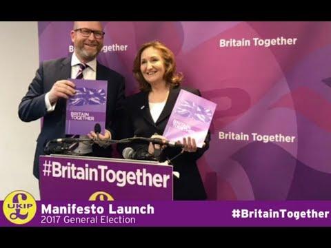 UKIP Manifesto Launch - Paul Nuttall - Suzanne Evans - 25/05/2017