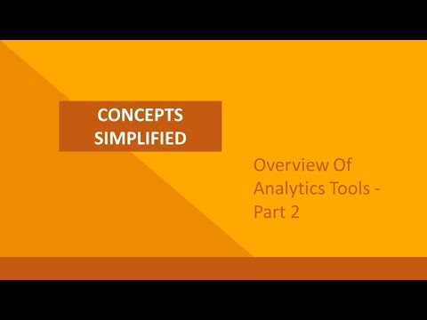 Overview of various Analytics Tools (Part 2)