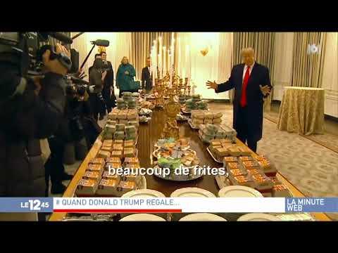 États-Unis : quand Trump régale ses invités avec des burgers et des pizzas