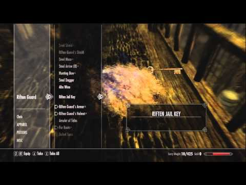 Skyrim Exploit/Glitch How To Get To Lvl 100 Pickpocket Quickly - HD