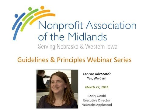 E-Learning | Advocacy & Public Policy | Effective Nonprofit Advocacy with Becky Gould