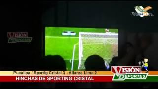 Sporting Cristal (3) vs Alianza Lima (2) - Celebración de Hinchas en Pucallpa/Ucayali
