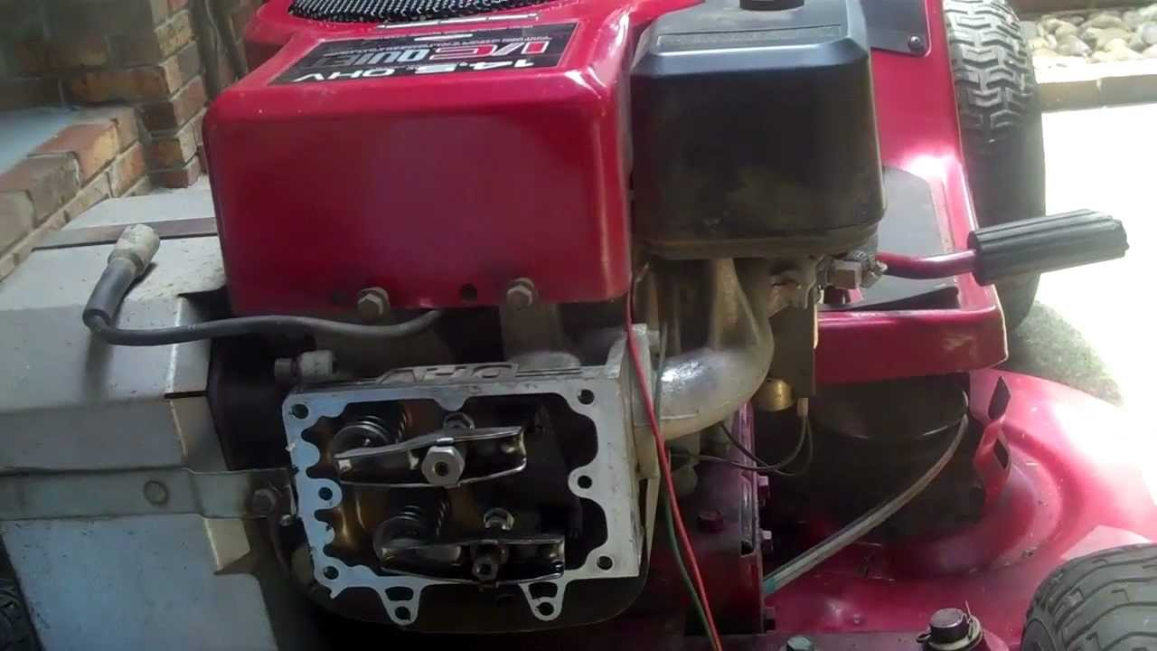 Adjusted Valves On 14 5 Hp Briggs Amp Stratton Starts