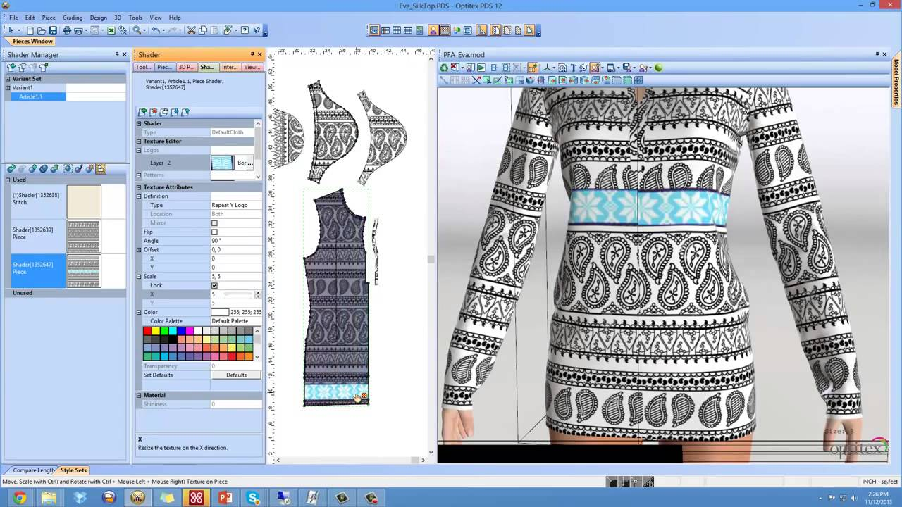 Ladies Top Design 2D Pattern