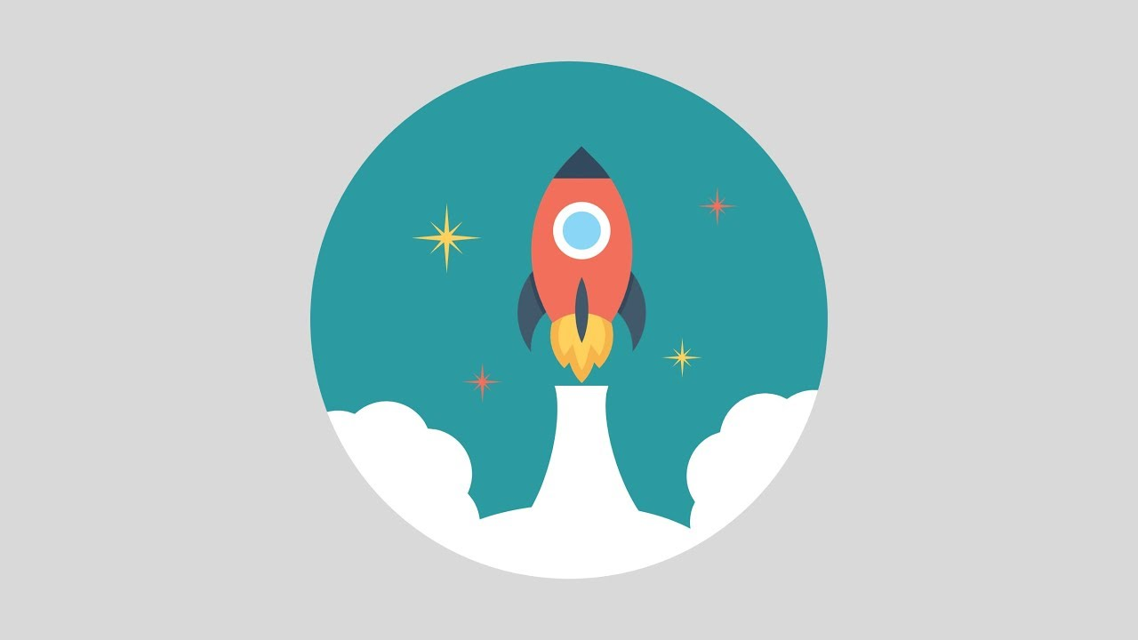 PowerPoint Animation Tutorial Motion Graphic Rocket