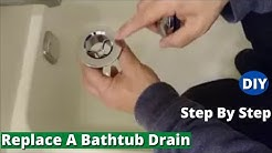 How To Replace A Bathtub Drain - Remove and Install New Drain - Step By Step
