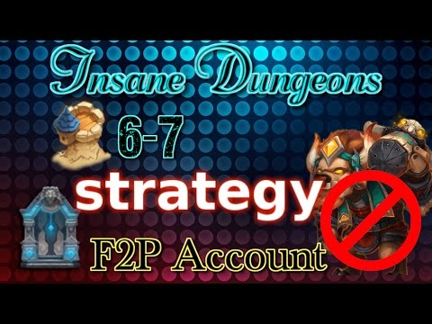 Castle Clash Insane Dungeon 6-7 Strategy_ F2P Account