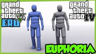 GTA V (ERO1.9.3) vs GTA IV Euphoria ragdoll physics comparison