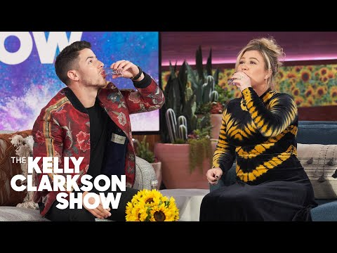 Teri Ann - Kelly Clarkson Does Shots With Nick Jonas And Teases Him About The Voice!