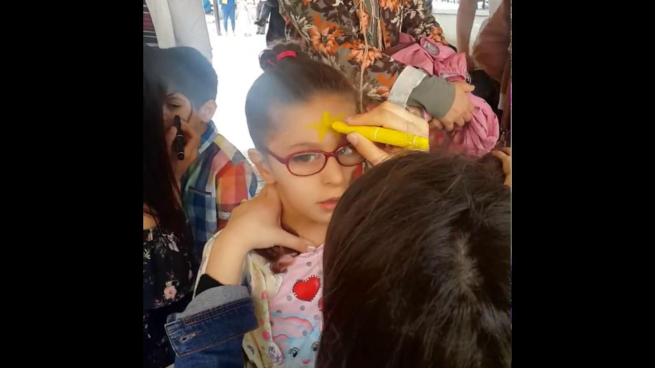 çocuk Yüz Boyama Uğur Böceği Youtube