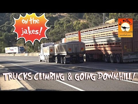 Extreme Trucks #36 - Massive Big Rig LOUD exhaust dangerous Australian Trucks climbing Road trains