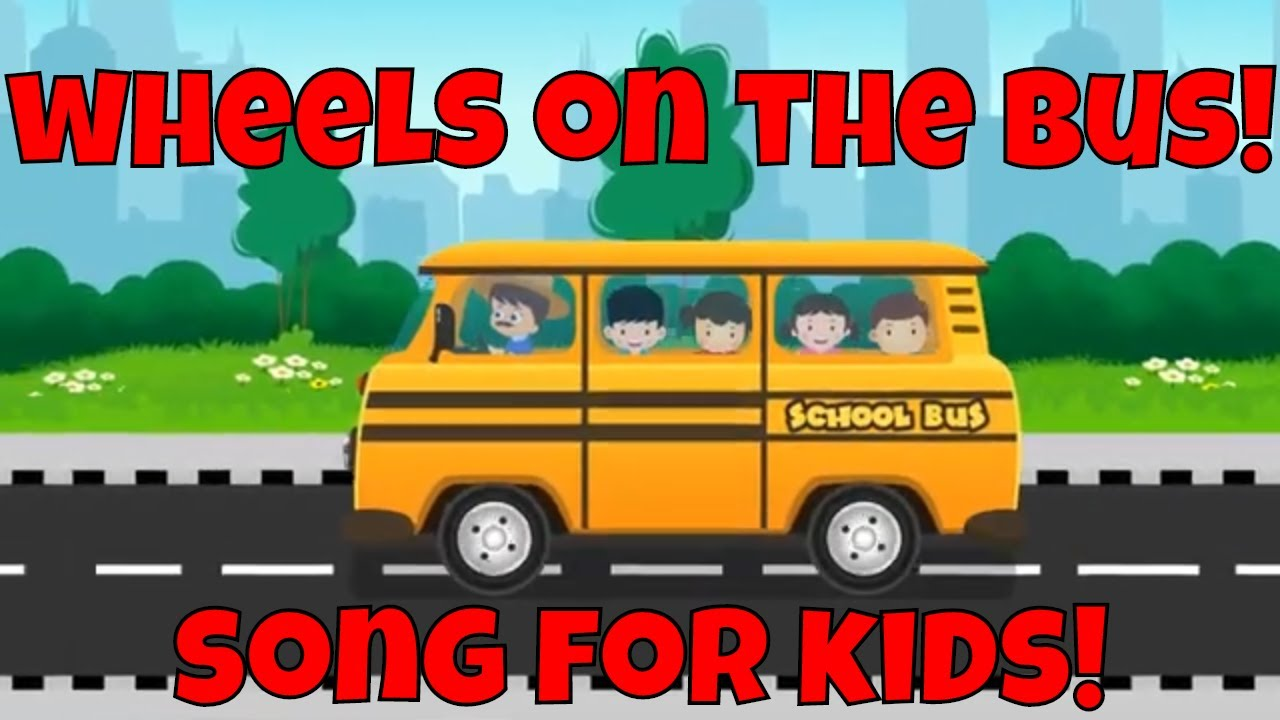 The Wheels On The Bus Go Round and Round! SONG FOR KIDS!