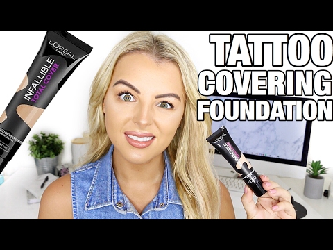 Does It Work Loreal Infallible Tattoo Covering Foundation Demo Review