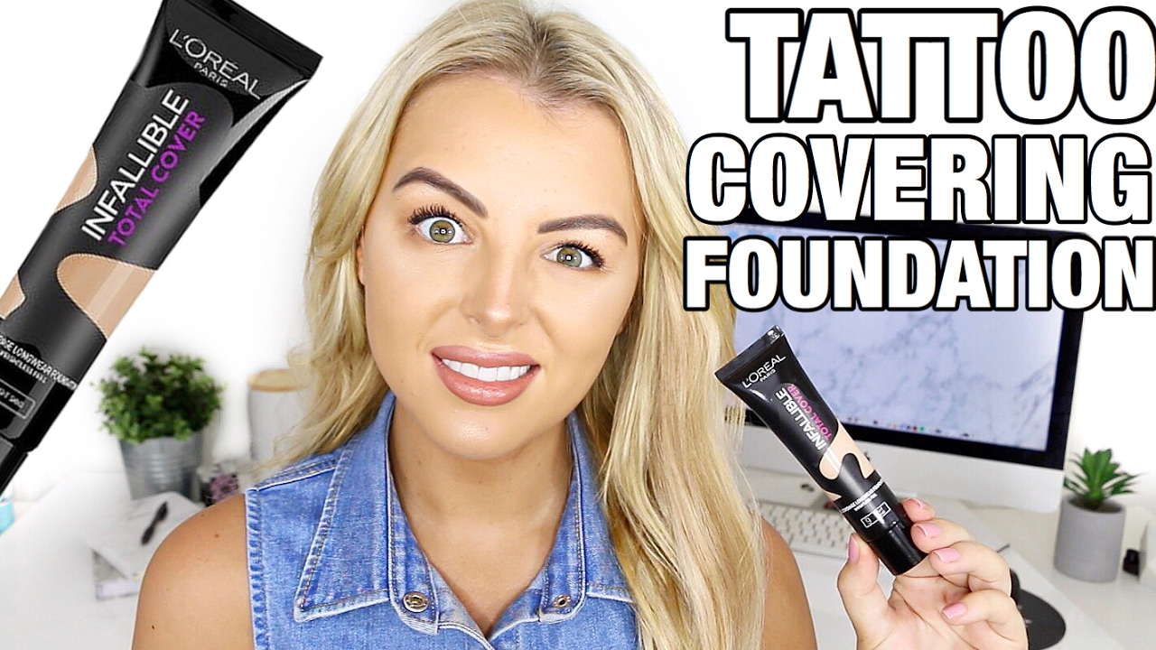 Does it work loreal infallible 39 tattoo covering for Tattoo foundation cover up