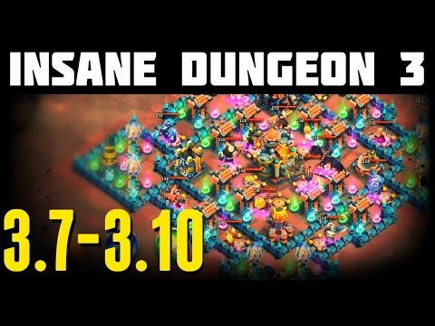 Castle Clash: Insane Dungeon 3-7 To 3-10